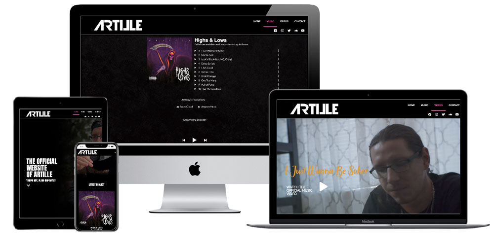 Oseeyo Web Development and Design - Artille Music, St Pete, FL