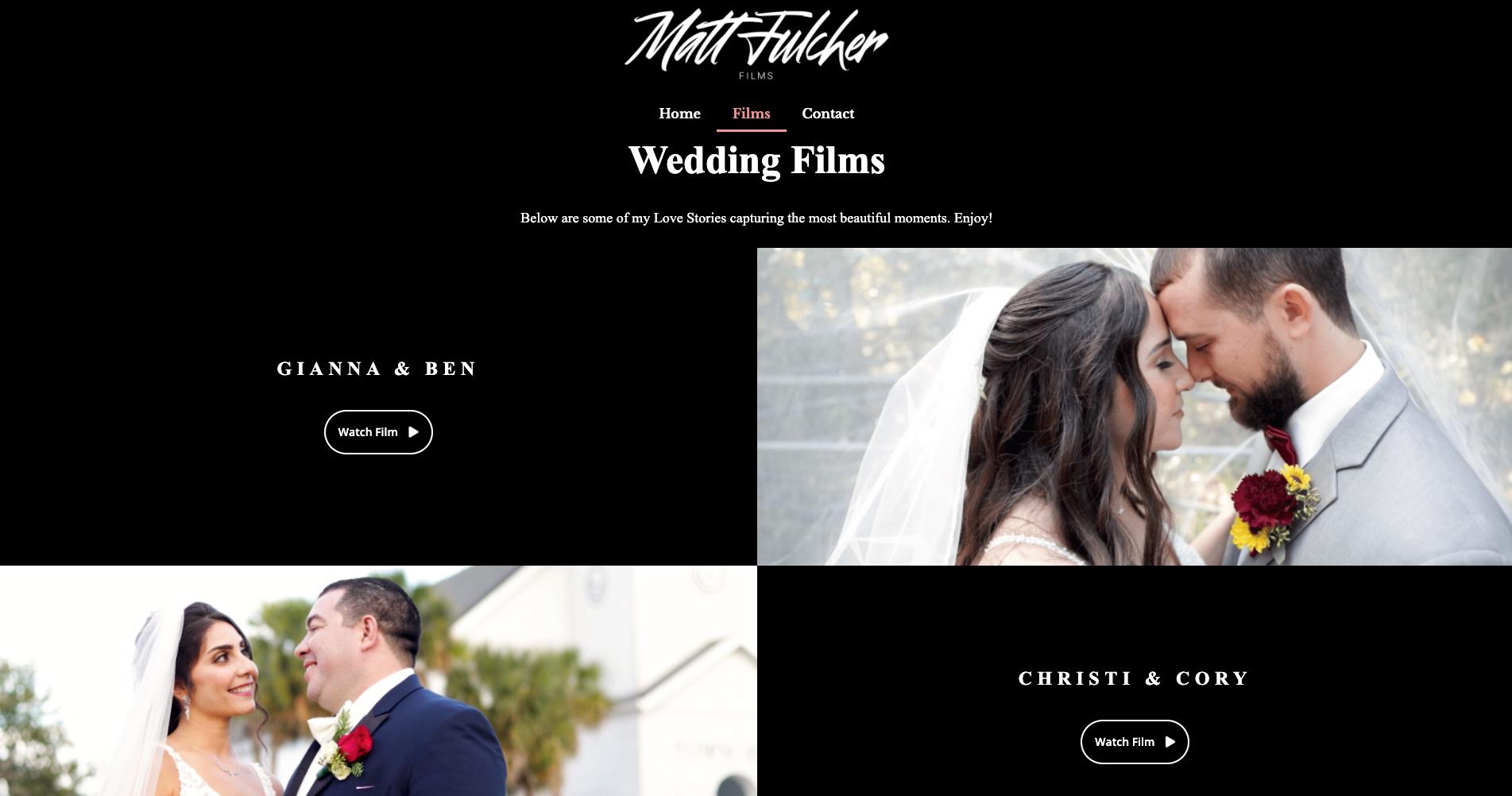 Oseeyo Web Development and Design - Wedding Photographer website - Vero Beach, FL