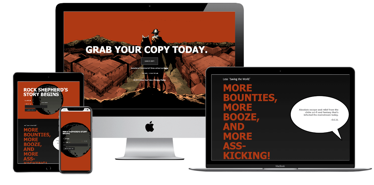 Oseeyo Web Development and Design - Shepherd's Ballad - author landing page