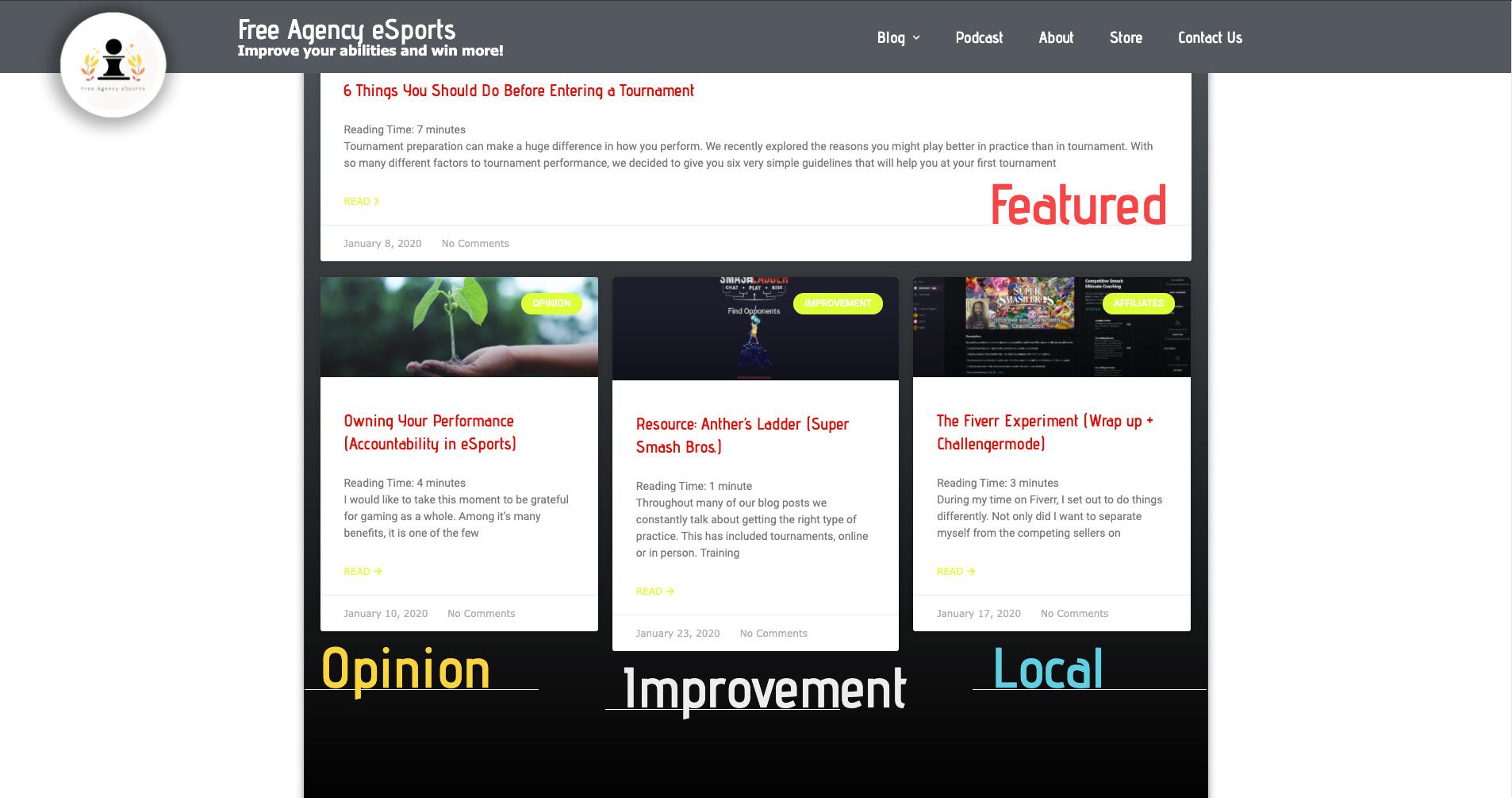 Oseeyo Web Development and Design - news agency website - Vero Beach, FL